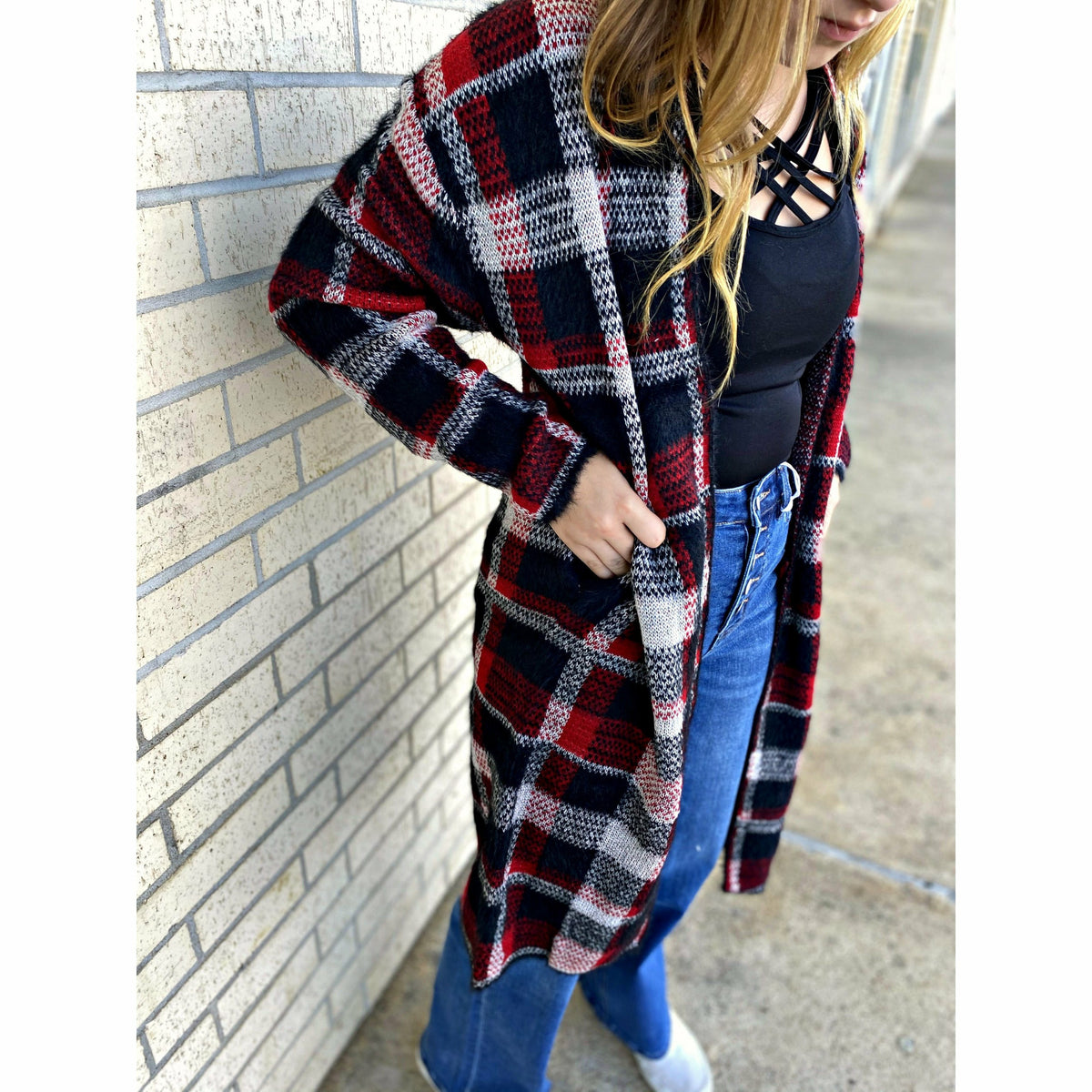 Softest Plaid Cardigan (regular & plus)