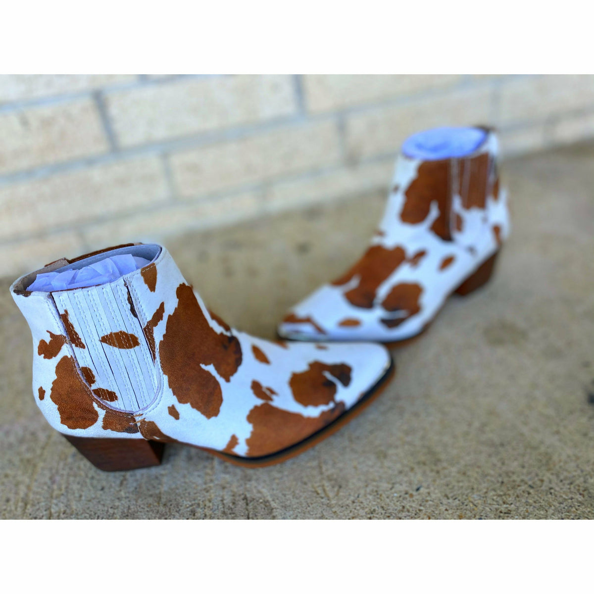 Dolly Cow Print Booties