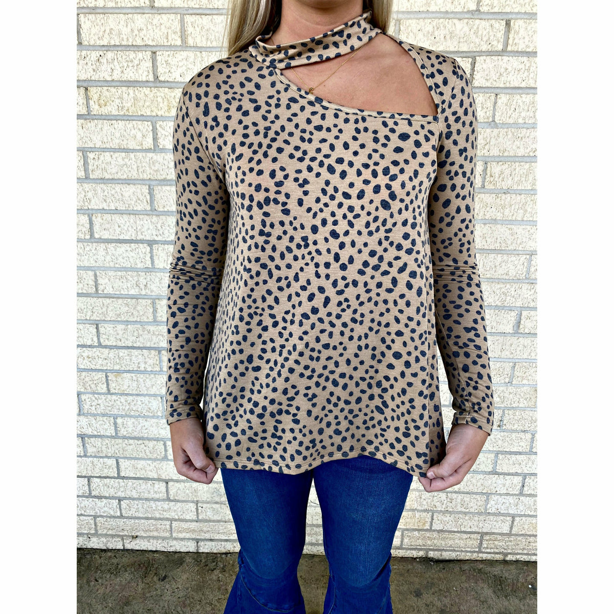 Date Leopard Cut out Top