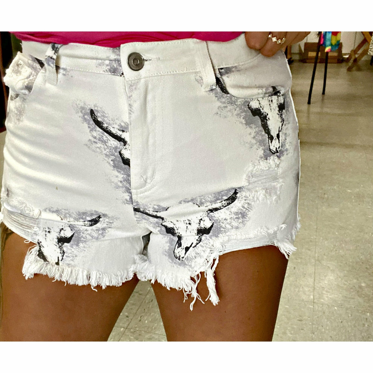 Cow skull babe Shorts