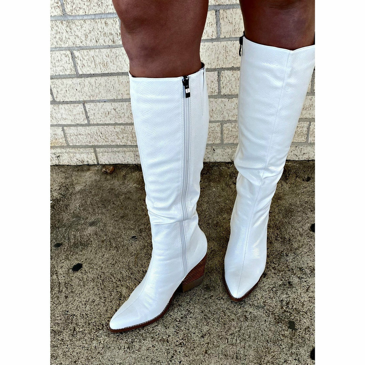 White Kerry Boots