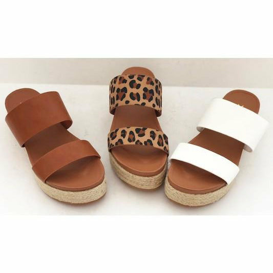 Take me To the Beach Tan Wedges