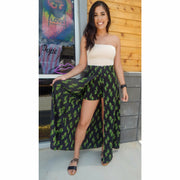 Out west Cactus short maxi skirt