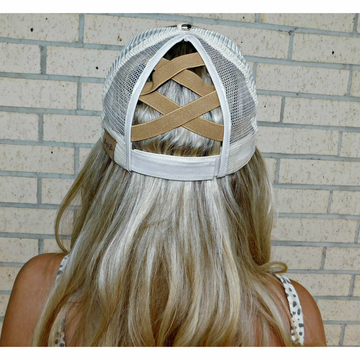 Metallic Leopard pony Cap