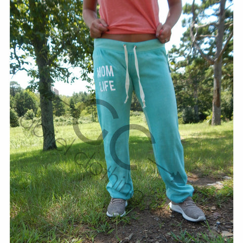 Mom life pants (teal)