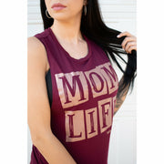 Rose gold Mom life Muscle tank (more colors)