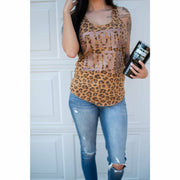 Wild Cheetah Mom life Tank