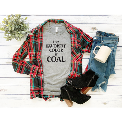 My Favorite Color is coal Tee