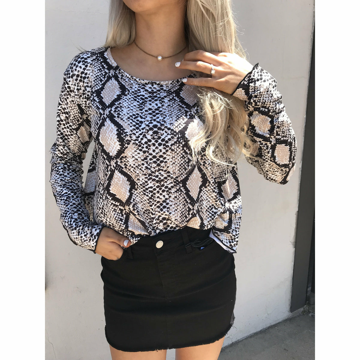 Smokey Snake Long Crop Top