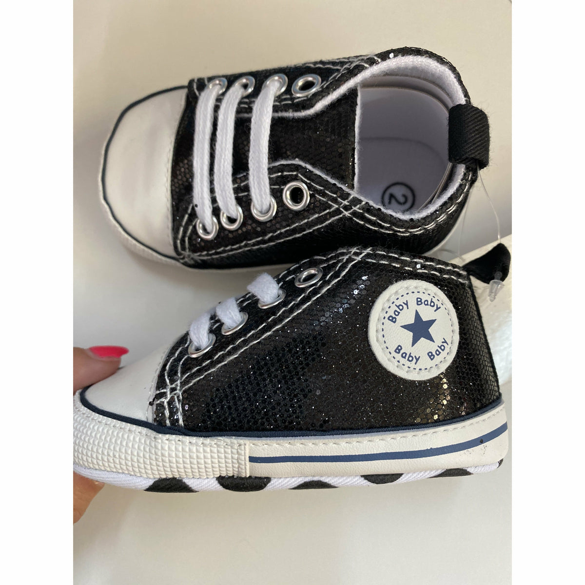 Infant sparkle sneaker shoes ( 6 colors)