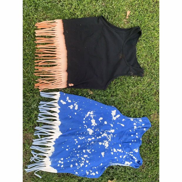 Fringe bleached all over & Dipped tank (more colors)