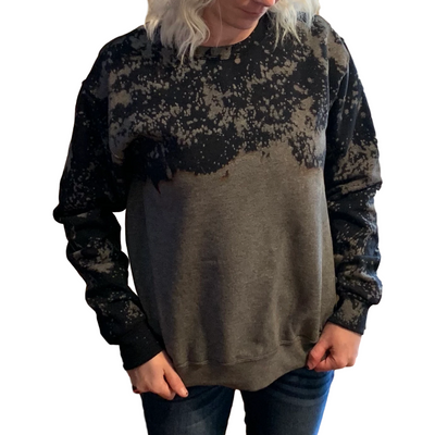 Black Distressed Sweatshirt