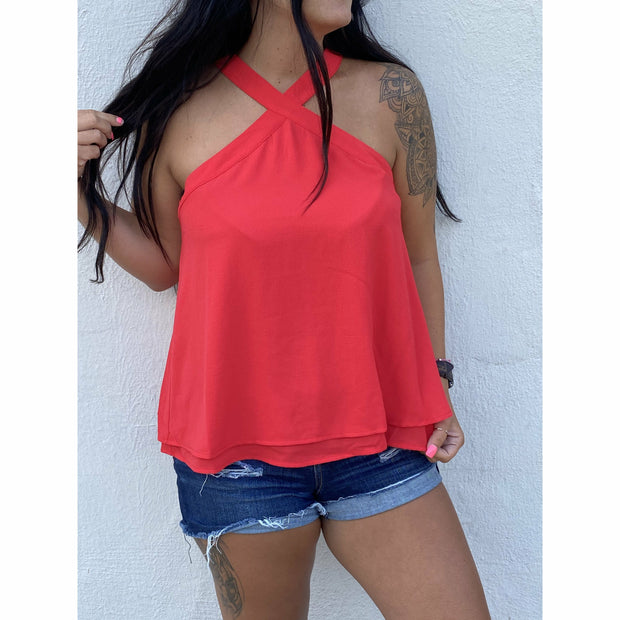 Red Flowy Beach boutique