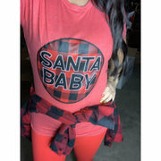 Santa baby T-shirt ( lots of color options)