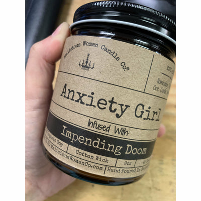 Anxiety Girl Candle