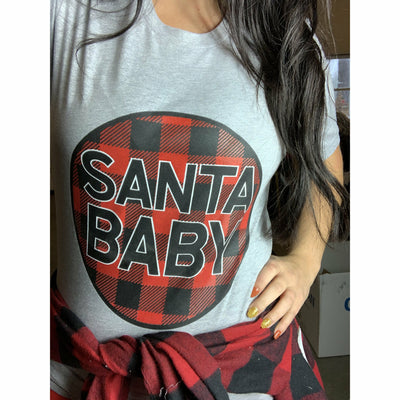 Santa baby Tee ( lots of color options)