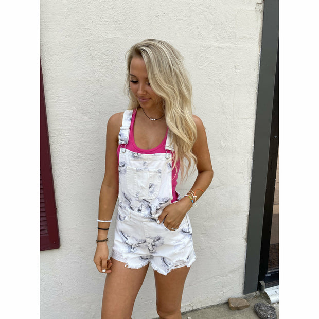 Cow Skull Overalls