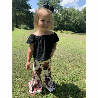 Cow print Two piece toddler set