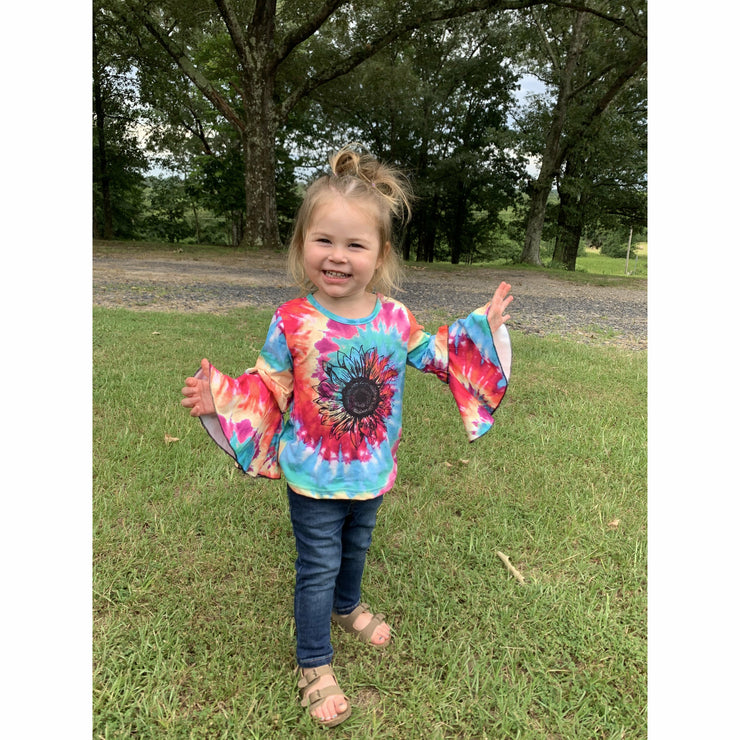 sunflower tie dye kids