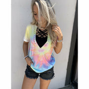 Big V Tie dye boutique top