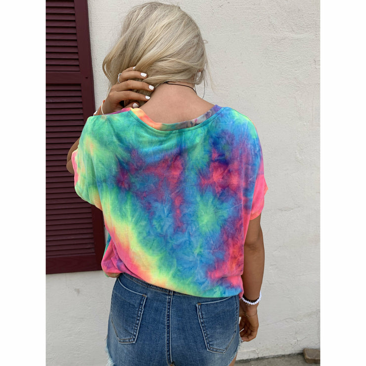 Blazin' tie dye V neck boutique