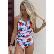 Floral One piece swim