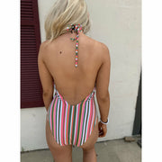 Stripe candy swimsuit