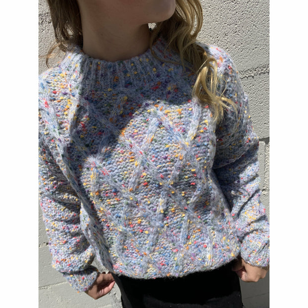 Color Pop grey sweater