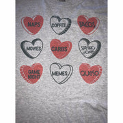 My Favorite Candy Heart T-Shirt, Tank, Long Sleeve or Sweatshirt