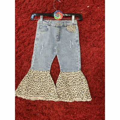 Denim Leopard Kid Bells