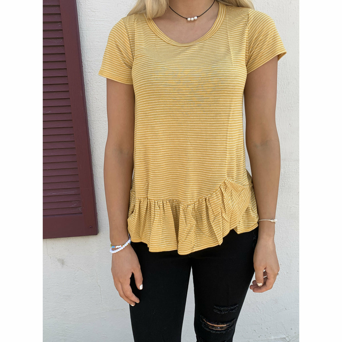 Mustard Flowy Love Top