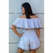 Havannah Embroidered Tassel Set