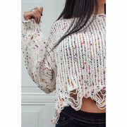 Sweet but Psycho Crop Sweater