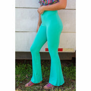 Teal Soft as Butter Bell Bottoms