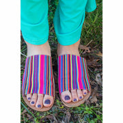 Serape Bright Slide Sandals