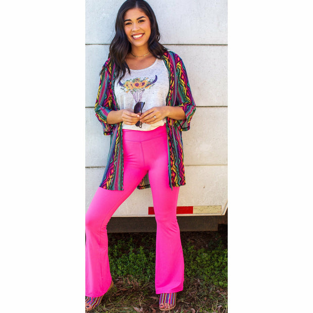 Pink Supersoft Bellbottoms