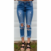 Distressed Stretch Hippie Denim Jeans - Gabriel Clothing Company