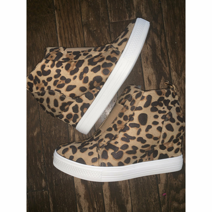 Leopard Wedge Sneaks