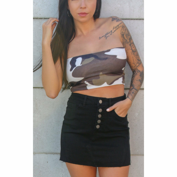 Wow Camo Crop Top