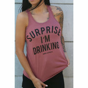 Surprise I'm drinking Tank top