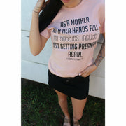 not getting pregnant again  Tee