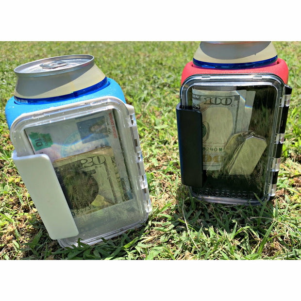 Blue Beverage holder with Waterproof storage