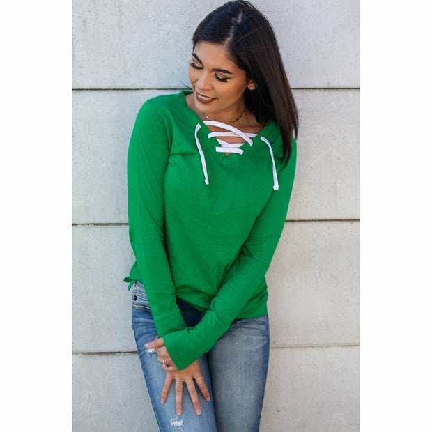 Criss Cross Long Sleeve ( colors)