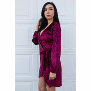 SweetHeart Wrap Velvet Dress