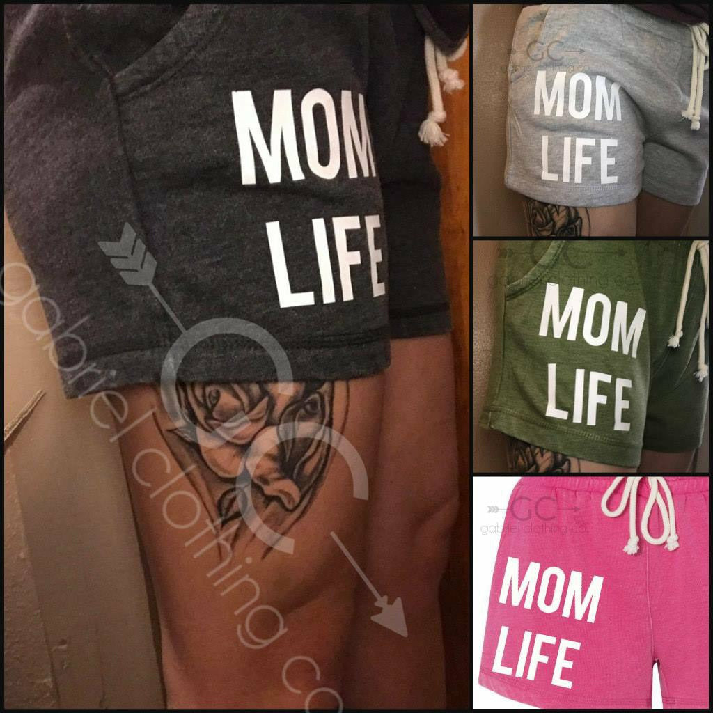Mom Life Shorts white ink (old version)