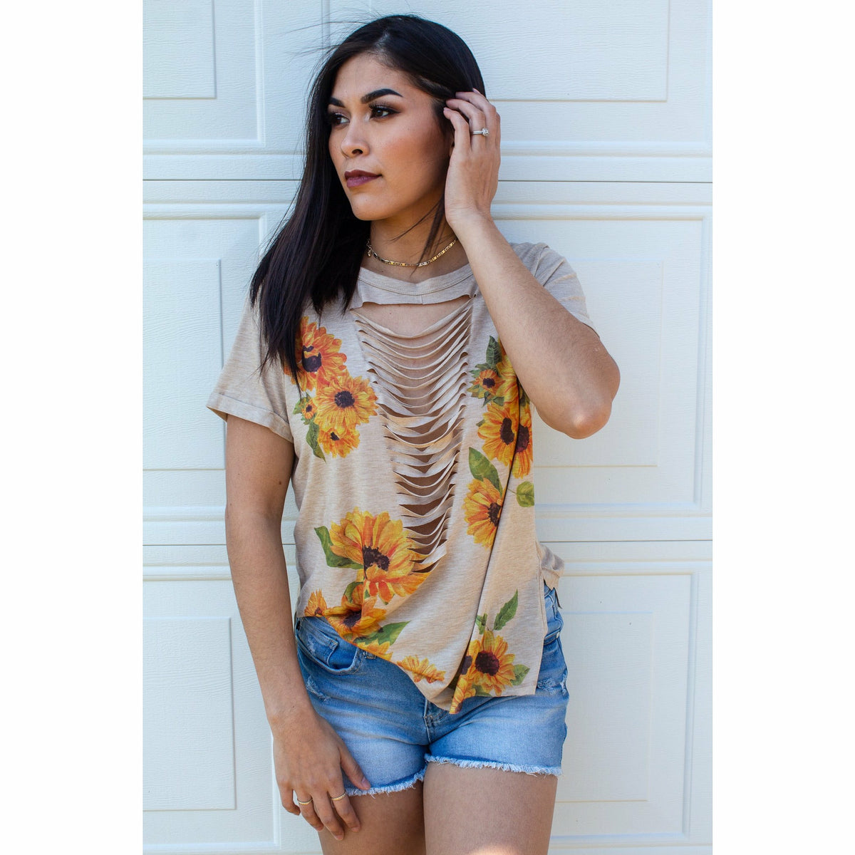 Be a Sunflower laser cut top