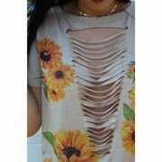 Tan Sunflower Top