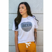 Beer Candy Heart Tee