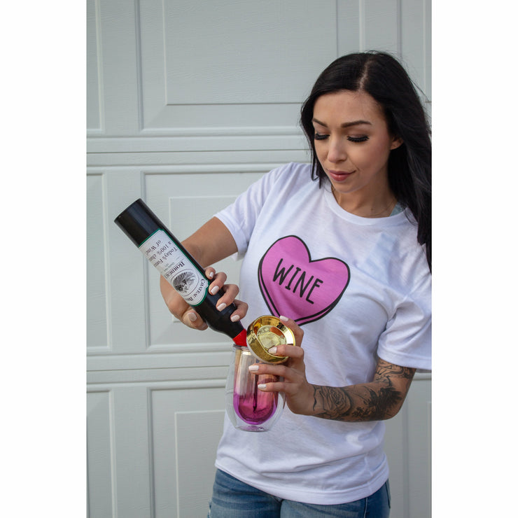 Wine Candy Heart tee