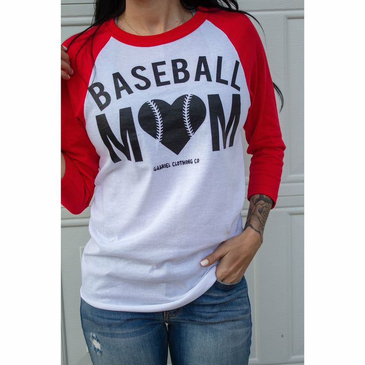 Baseball Mom Raglan (more colors)